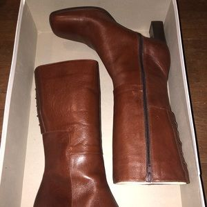 Sesto Meucci Brown Leather Boots Size : 7.5